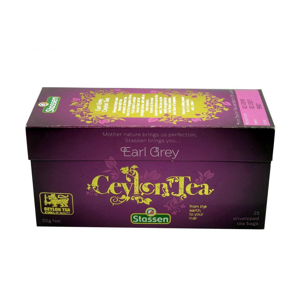 Stassen tea, Earl Grey, pure ceylon tea