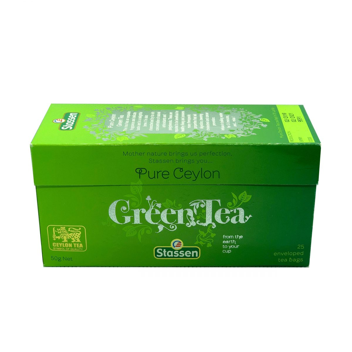 Pure ceylon green tea, Stassen